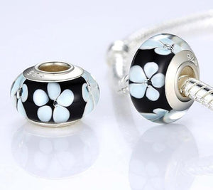 Chic Black & White Floral Charm
