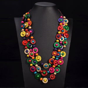 Tribal Bead Rainbow Necklaces