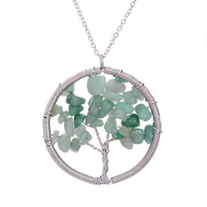 Tree of Life Natural Stone Pendants