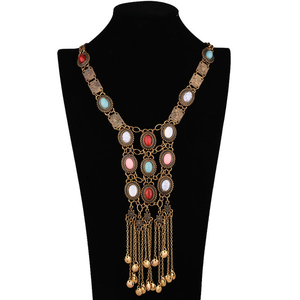 Boho Vintage Stone Necklaces