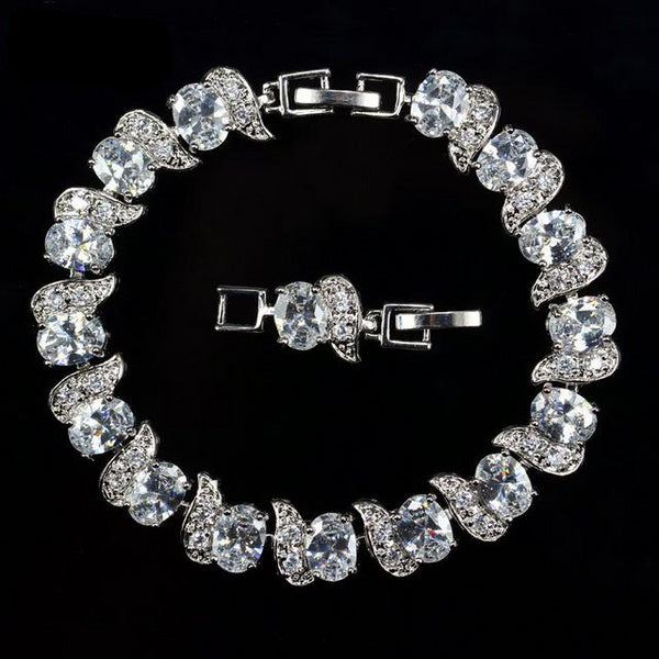Luxury Sterling Silver Bridal Bracelets