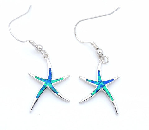 Starfish Fire Opal Earrings