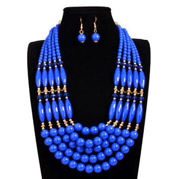 African Tribal Bead Jewelry Set