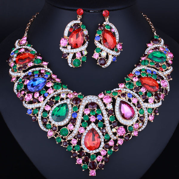 African Crystal Jewelry Set