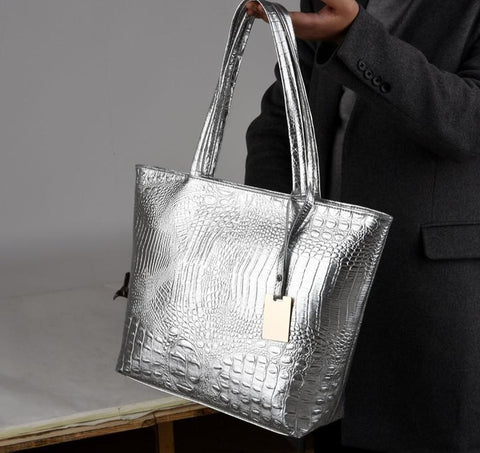 Crocodile Skin Printed Handbags