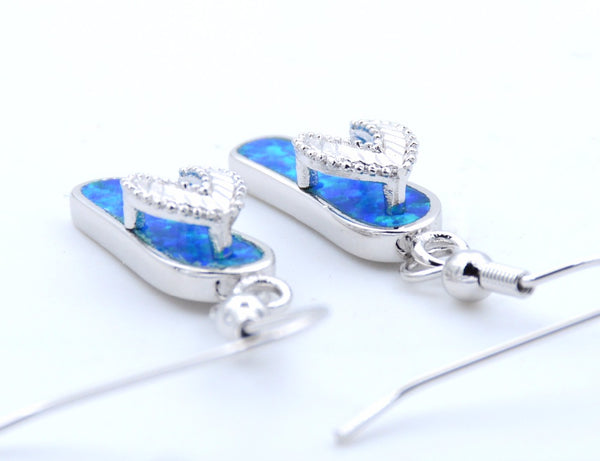 Cute Fire Opal Sandal Earrings