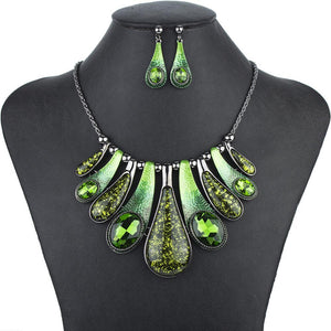 Crystal Stones Jewelry Sets