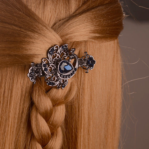 Vintage Crystal Peacock Hair Clips
