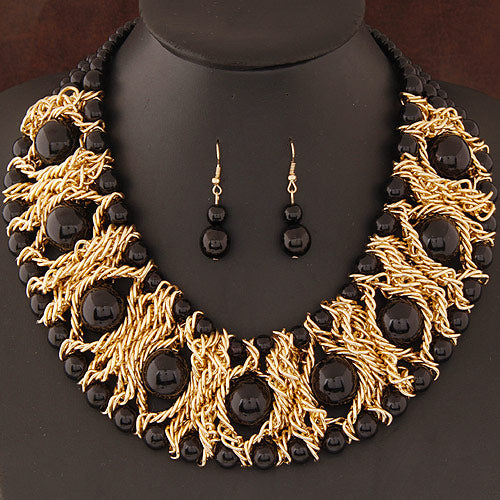 African Chain beaded Jewelry Set