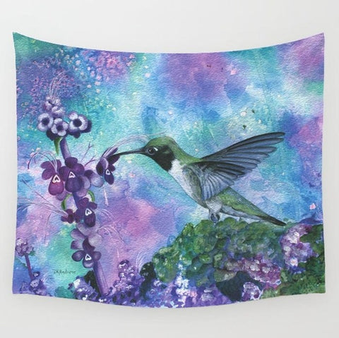 Magical Hummingbird Tapestry