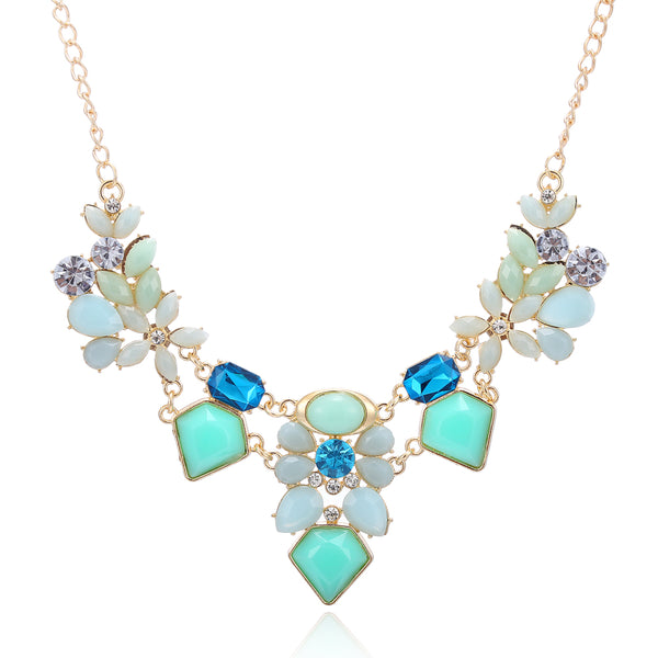 Flower Gem Necklace