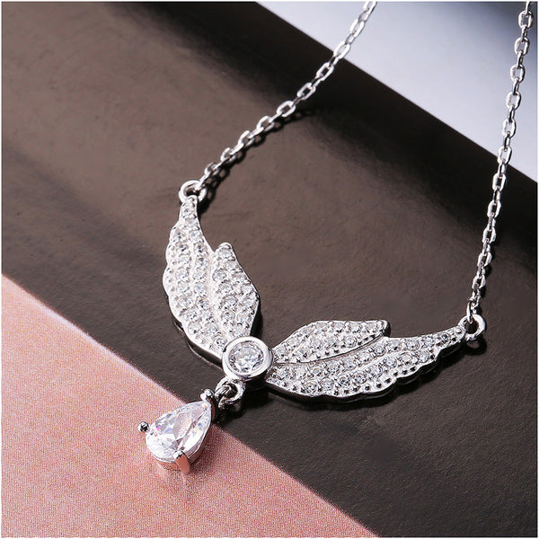Sterling Silver Angel Wings Necklace