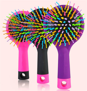 Funky Rainbow Hairbrushes