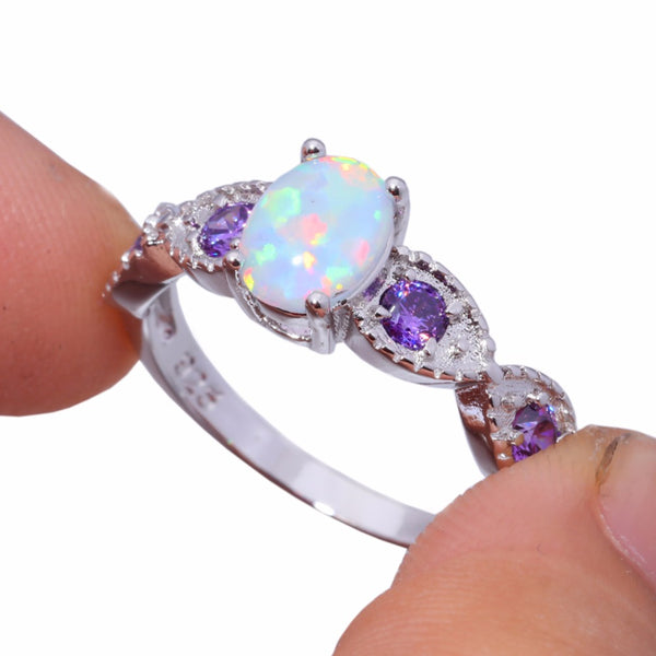Purple Passion Opal Rings