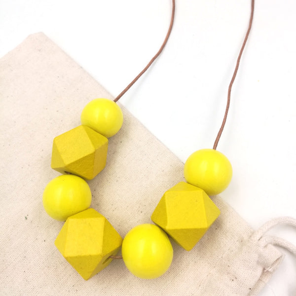 Boho Bead Block Necklace