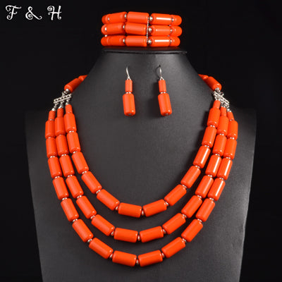 Neon beaded Jewelry Set