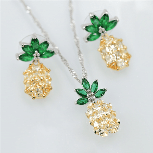 Pineapple Jewelry Set