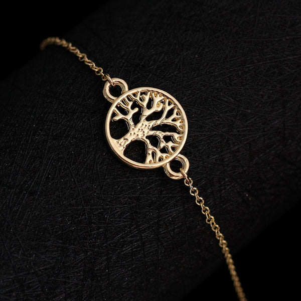 Elegant Tree of Life Chain Bracelet