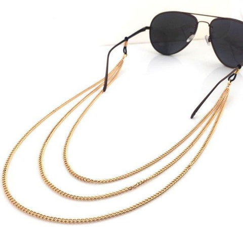 Layered Vintage Eyeglass Chain