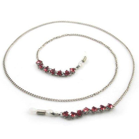 Ruby Red Vintage Eyeglass Chain