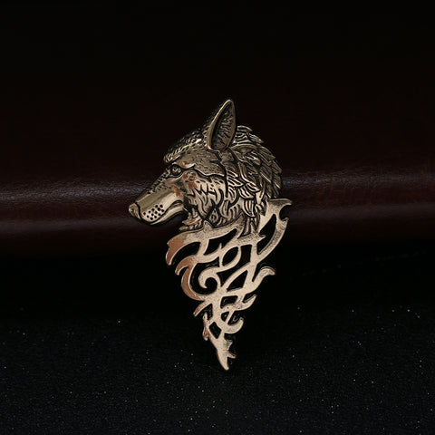 Celtic Wolf Brooch