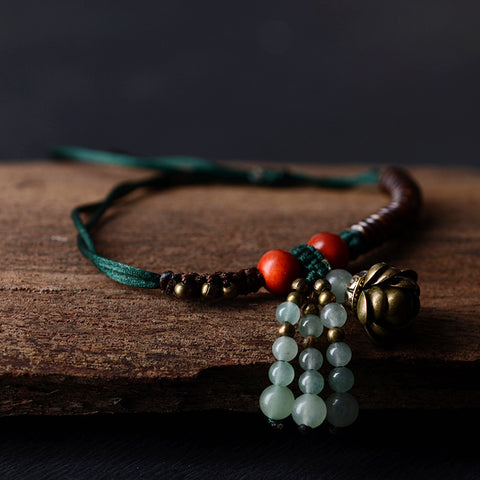 Traditional Lotus Flower Anklet
