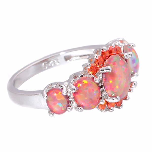 Orange Fire Opal Rings