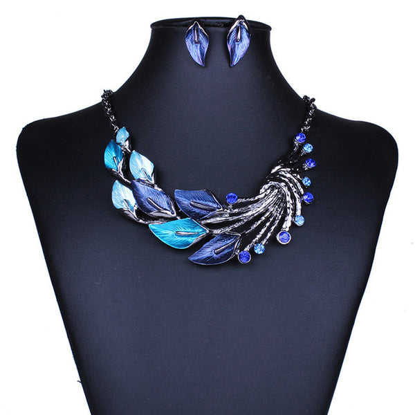 Bohemian Leaf Swirl Jewelry Set