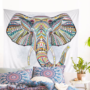 Beautiful Bohemian Elephant Tapestry