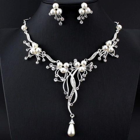Vintage Pearl drop Jewelry Set