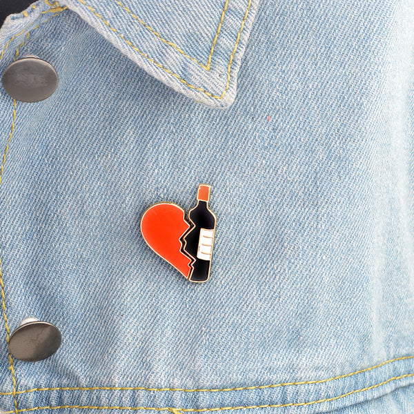 Love For Wine Brooch