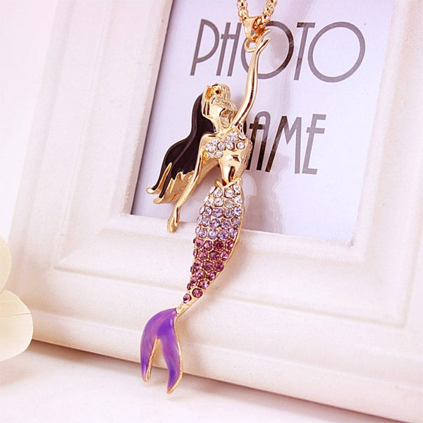 Crystal Bohemian Mermaid Pendant