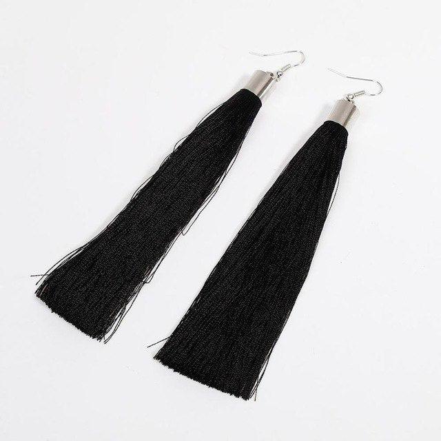 Bohemian Chic Long Tassel Earrings
