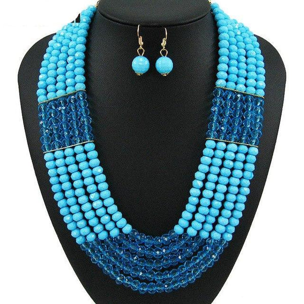 African Beads Jewelry Set