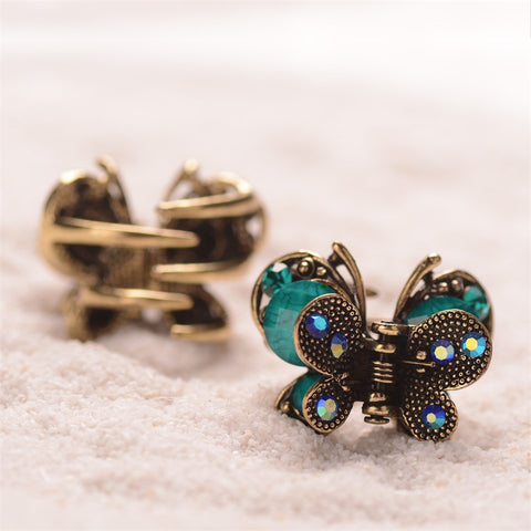 Vintage Butterfly Hair Clips