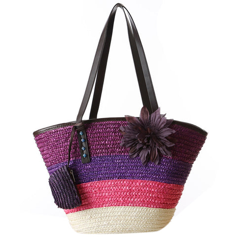 Summer Flower Bohemian  Beach Bags