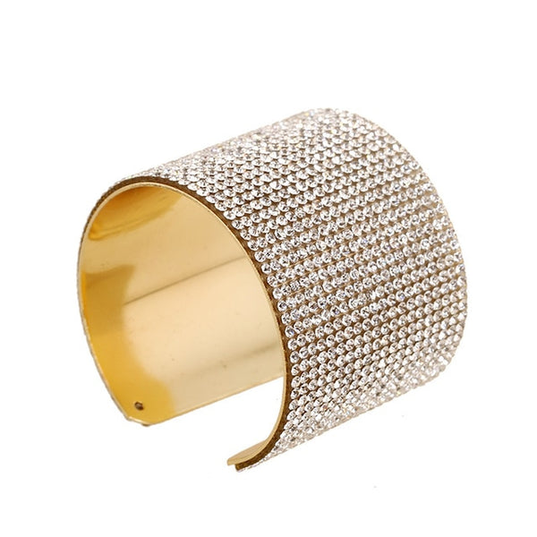 Exquisite Crystal Cuff Bracelet