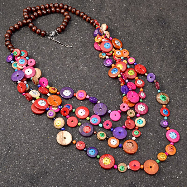 Bohemian Pink Party Bead Necklaces