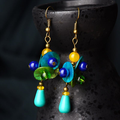 Beautiful & Vibrant Water Drop Earrings