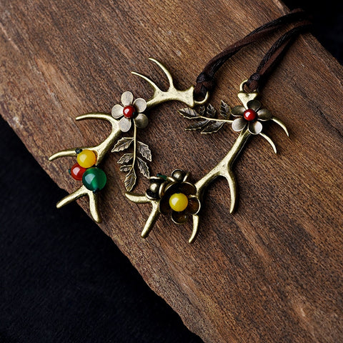 Antler Stone Necklace