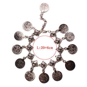 Bohemian Vintage Coin Anklet