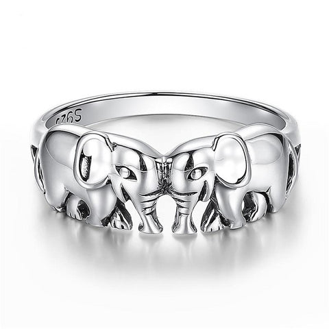 Sterling Silver Elephant Adore Rings