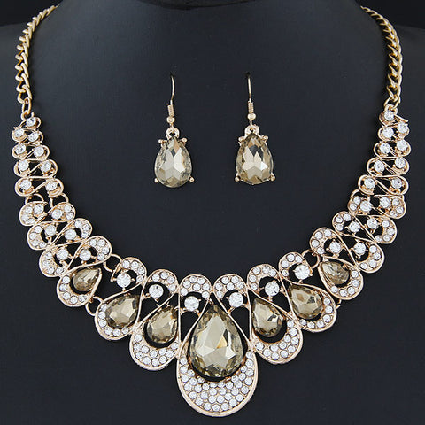 African Jewel Drop Jewelry Set