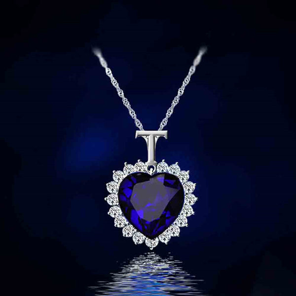 Heart of the Ocean Crystal Pendant