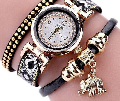 Luxury Elephant Crystal Bracelet Watches