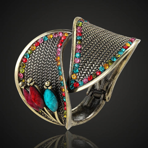 Turkish Antique Rainbow Cuff Bracelet
