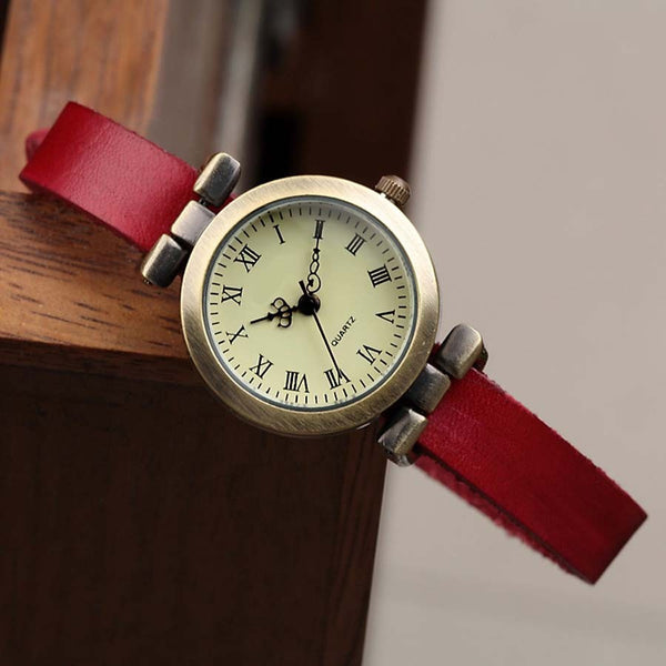 Roman Numeral Leather Watch