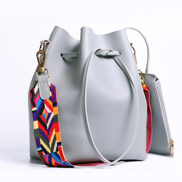 Tribal Strap Bucket Styled Handbags
