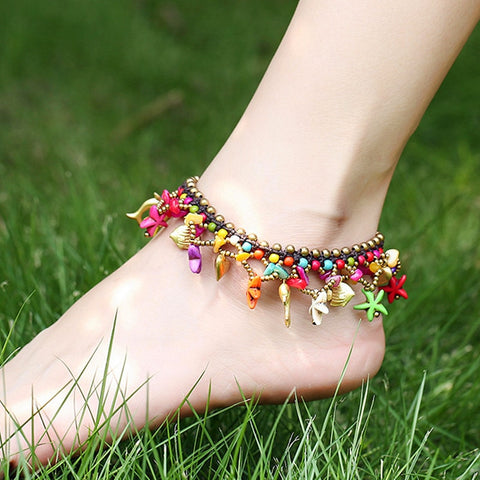 Bohemian Starfish Charm Anklets