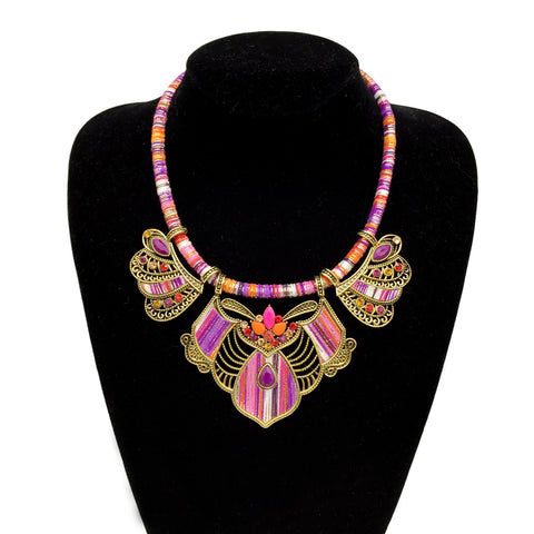 Tribal Purple Passion Choker & Earring Sets